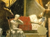 The Dream of Constantine. Piero della Francesca, c. 1452-66 (Fresco, San Francesco, Arezzo, Italy)