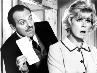 Terry-Thomas and Doris Day in Where Were You When the Lights Went Out? (Source: Wikimedia Commons)