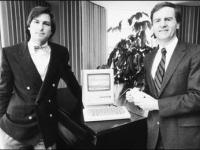 Steve Jobs, Steve Wozniak and the Apple 1 PC