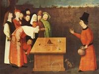 The Conjurer, Hieronymus Bosch, c.1475, Musée Municipal, St. Germain-en-Laye (Source: Wikimedia)