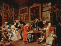 Marriage à la Mode, William Hogarth, 1743-1745, National Gallery London (Source: Wikimedia)