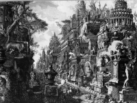 Idea of the Ancient Via Appia and Ardeatina, Giovanni Battista Piranesi 1720-1778 (Source: Wikipaintings)
