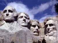 Mount Rushmore: George Washington, Thomas Jefferson, Theodore Roosevelt, and Abraham Lincoln (Source: Wikimedia Commons)