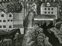 Hulls Mills, Eric Ravillious c.1936, Source: Merivale Editions, www.merivaleeditions.com