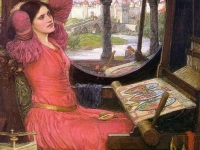 I am half-sick of shadows, said the Lady of Shalott', William Waterhouse, 1916 (Source: Wikimedia Commons)