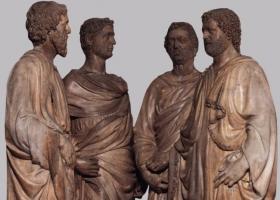 Quattro Santi Coronati, marble sculpture by Nanni di Banco (1375 -1420), Florence