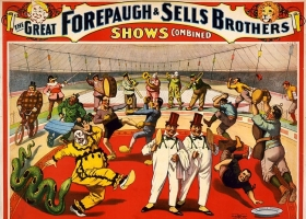 Adam Forepaugh and Sells, Circus Poster, 1899 (Source: Wikimedia Commons)
