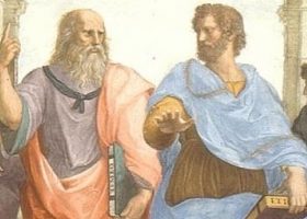 Plato (left) and Aristotle (right), a detail of a fresco by Raphael (Source: Wikimedia Commons)