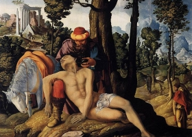 The Good Samaritan, Master of the Good Samaritan, circa 1530–1550, Centraal Museum Utrecht (Source: Wikimedia Commons)