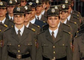 Officer cadets from Serbia's Military Academy, Belgrade, Serbia, 2010 (Source: Wikimedia Commons)