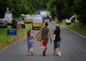 Anti-fracking activists, Balcombe, West Sussex, where Cuadrilla was drilling an exploratory well, August 2013 (Source: Greenpeace. Photo by Jiri Rezac)