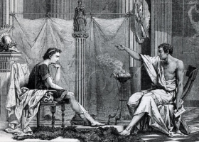 The Education of Alexander the Great by Aristotle, Charles Laplante, 1866 (Source: Wikimedia Commons)