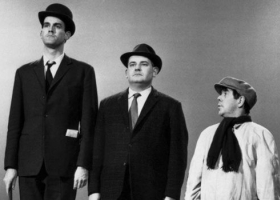 John Cleese, Ronnie Barker, Ronnie Corbett in The Class sketch,  first broadcast on The Frost Report on 7 April 1966, BBC Televisio (Source Wikimedia)