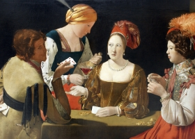 The Cheat with the Ace of Clubs, Georges De La Tour, c. late 1620s, Louvre, Paris (Source: Wikimedia Commons)
