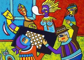 The Board Game, Magdelena Giesek, 2010. View her work at www.giesek.com