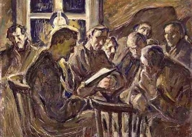 The Meeting, Ester Almqvist, 1929, (Source: The Swedish National Museum. Wikimedia Commons)