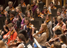 National Youth Orchestra performing Beethoven's ninth symphony at the Royal Albert Hall, London, during 2013 BBC Proms (Source: Royal Philharmonic Society)