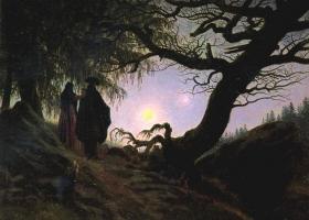 Woman and Man Contemplating the Moon, David Caspar Friedrich, c.1818-1824, Alte Nationalgalerie, Berlin (Source: Wikimedia Commons)
