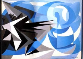 Pessimismo e Optimismo, 1923, by Italian futurist painter Giacomo Balla, 1871-1958 (Source:Wiki Paintings)