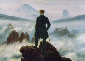 The Wanderer above the Sea of Fog, Caspar David Friedrich, 1818, Kunsthalle, Hamburg