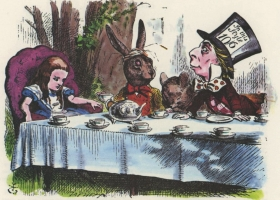 The Mad Hatter's Teaparty, illustration by John Teniel for Lewis Carroll's Alice in Wonderland 1895