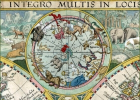 Map of the World and Constellations, Petrus Plancius (1552 – 1622) Dutch astronomer, cartographer and clergyman