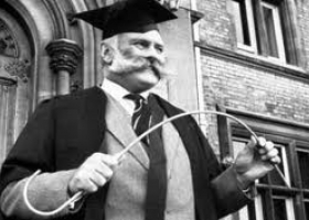 Jimmy Edwards as the Headmaster in Whack-O!, BBC TV comedy sit-com which was originally broadcast from 1956 to 1960  (©BBC)