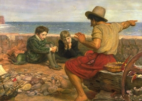 The Boyhood of Raleigh 1870, Sir John Everett Millais, The Tate Gallery , London