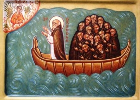 The Voyage of St. Brendan the Navigator, according to legend this famed traveller reached North America between 512 and 530 AD
