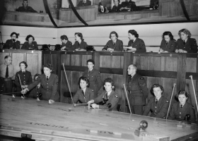 WAAF plotters at work in the Operations Room at No. 11 Group HQ at Uxbridge in Middlesex, 1942 (Courtesy: Imperial War Museum, London) Copyright?