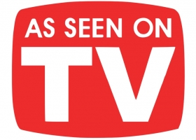 "A typical ""As seen on TV"" logo present on many products in the US (Source: Wikimedia Commons)"