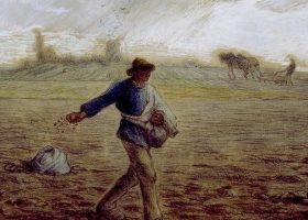 The Sower by Jean-François Millet, circa 1865, Walters Art Museum, Baltimore
