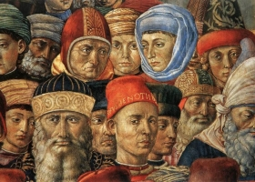 The Procession of the Magi (detail), by Benozzo Gozzoli (c 1421–1497), Chapel of the Magi, Medici Palace Florence