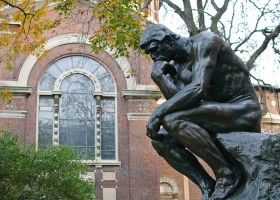 A copy of Auguste Rodin's The Thinker on the Columbia University campus (Source: Wikimedia Commons)