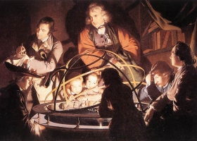 A Philosopher Giving a Lecture on the Orrery, Joseph Wright of Derby, 1766, Courtesy: Derby Museum and Art Gallery