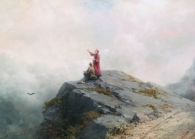 Dante Shows an Artist Some Unusual Clouds, by Ivan Aivazovsky, 1883