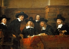 The Syndics of the Amsterdam Drapers' Guild, Rembrandt van Rijn, 1662, Rijksmuseum, Amsterdam