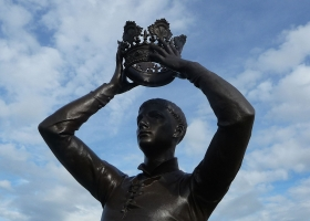 Shakespeare's Prince Hal (Henry iv part 2). The Gower Memorial, Stratford (Source: Wikimedia Commons)