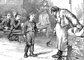 Charles Dickens' Oliver Twist, an illustration for the 1898 Swedish edition by James Mahoney
