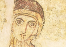 St Anne, 8th century, from Faras – a city in Lower Nubia, present day Egypt (Courtesy: National Museum of Warsaw)