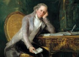 Gaspar Melchor de Jovellanos at his desk, Francisco Goya, circa 1798