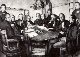 The board of directors of the Leipzig-Dresden Railway Company in 1852 (Source: Wikimedia Commons)