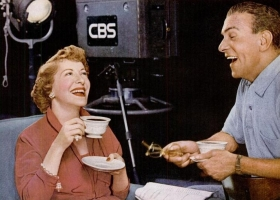 Coffee Break ad from Life Magazine, featuring Gracie Allen and George Burns, 1953 (Source: Wikimedia Commons)