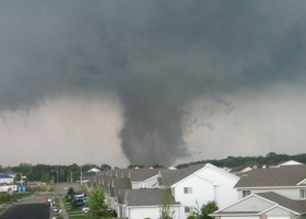 Stoughton Wisconsin Tornado of 18 August 2005 (Source: NWS/NOAA, Wikimedia Commons)