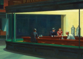 A detail from 'Nighthawks', Edward Hopper, 1942, (Courtesy: The Art Institute of Chicago)