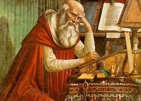 Saint Jerome in his Study, Domenico Ghirlandaio, 1480 (Courtesy: Chiesa di Ognissanti, Florence)