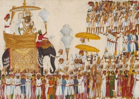 An Indian Maharaja in a religious procession, about 1825-1830, (Courtesy: V&A Museum, London)