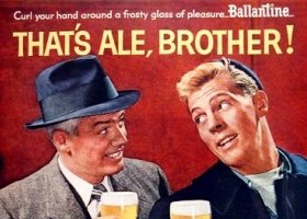 1956 Ballantine Ale original vintage advertisement (Source: Brookston Beer Bulletin)