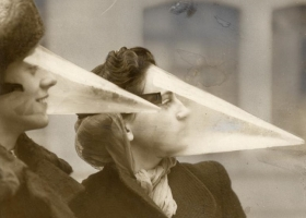 Plastic face protection from snowstorms. Canada, 1939 (Source: Wikimedia Commons)
