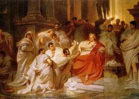 The Death of Caesar, Karl Theodor von Piloty, 1879 (Courtesy: Lower Saxony State Museum, Hannover, Germany)